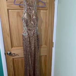 Tiffany Designs Rose Gold Dress - Size 6